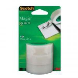 Scotch Magic Tape 19mm x 25m Pk3 Refill Rolls 8-1925R3