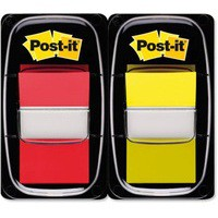 3M Post-it Index 1 inch Dual Pack Red/Yellow 680-RY2