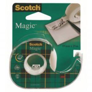 3M Scotch 810 Magic Tape 19mm x25 Metres with Dispenser 8-1925D