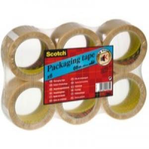 Scotch Packaging Tape PVC 50mm x 66m Clear PVC5066F6 T