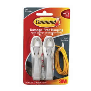 3M Command Adhesive Cord Bundlers Pack of 2 17304