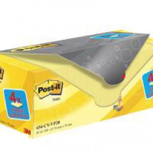 Post-It+ Canary? Yellow Notes 76x76mm Value Pack 654CY-VP20