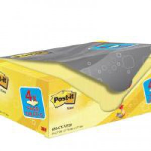Post-It+ Canary? Yellow Notes 76x127mm Value Pack 655CY-VP20