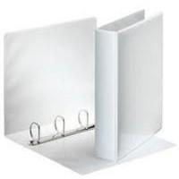 Esselte Presentation Ring Binder Polypropylene 4 D-Ring 25mm A4 White Ref 49702 [Pack 10]
