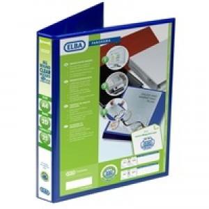 Elba Presentation Ring Binder PVC 2 D-Ring 25mm Capacity A4 Blue Ref 400008412 [Pack 6]