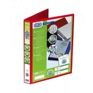 Elba Presentation Ring Binder PVC 2 D-Ring 25mm Capacity A4 Red Ref 400008676 [Pack 6]