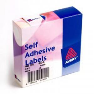 Avery Label Dispenser for Diam.19mm White Ref 24-404 [1400 Labels]