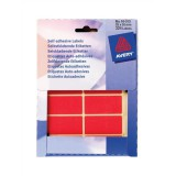 Avery Small Pack Coloured Labels In Wallets Red 324 Labels 25x50mm Code 16-313