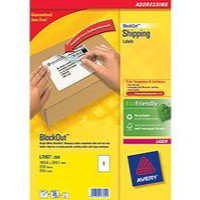 Avery Addressing Labels Laser Jam-free 1 per Sheet 199.6x289.1mm White Ref L7167-250 [250 Labels]