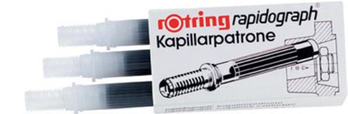 Rotring Ink Cartridges For Rapidograph Pens Black Ref S0194650 [Pack 3]