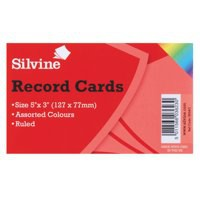Record Card Smooth 127x76mm Assorted [Pack 100]