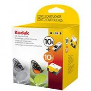 Kodak 10B & 10C Inkjet Cartridge Black and Colour Ref 3949948 [Pack 2]