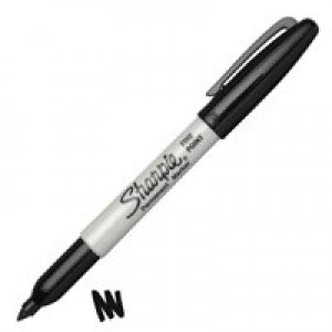 Sharpie Permanent Marker Fine Tip 1.0mm Line Black Code S0810930