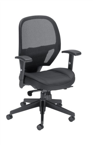 Influx Amaze Chair Synchronous Mesh Seat W520xD520xH470-600mm Black Ref 11186-02Blk