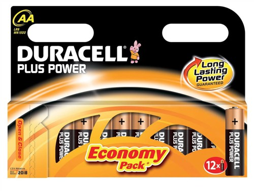 Duracell Plus Power Battery Alkaline 1.5V AA Ref 81275193 [Pack 12]