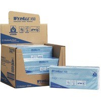 Image for Wypall X50 Cleaning Cloths Absorbent Strong Non-woven Tear-resistant Blue Ref 7441 [Pack 50]