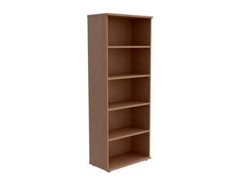 Trexus Tall Bookcase with Adjustable Shelves and Floor-leveller Feet W800xD420xH2053mm Beech
