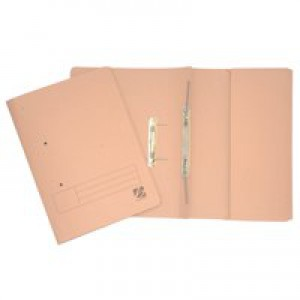 5 Star Transfer Spring File with Pocket 315gsm 38mm Foolscap Buff [Pack 25]