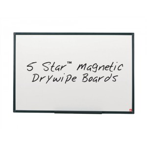 5 Star Drywipe Board Magnetic Lightweight with Fixing Kit and Pen Tray W900xH600mm