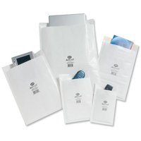Jiffy Airkraft Postal Bags Bubble-Lined Peel And Seal No.5 White 260x345mm Code JL-AMP-5-10