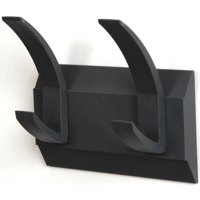 Image for Hat and Coat Wall Rack with Concealed Fixings 2 Hooks Graphite
