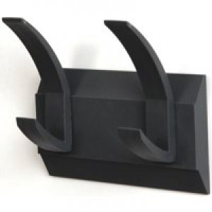 Hat and Coat Wall Rack with Concealed Fixings 2 Hooks Graphite