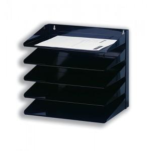 Avery Letter Rack 5-Tier Steel W380xD230xH335mm Black Ref 605SBLK