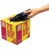 Robinson Young Le Cube Refuse Sacks with Tie Handles 72 Gauge 1500x1000mm Pack 75 Code 0481