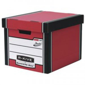 Fellowes R-Kive Premium 726 Archive Storage Box W330xD381xH298mm Red and White Ref 7260701 [Pack 10]