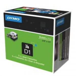 Dymo D1 Tape for Electronic Labelmakers 9mmx7m Black on Red Code S0720720