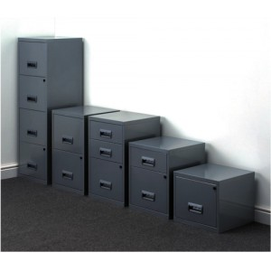 Filing Cabinet Steel Lockable 4 Drawers A4 Silver