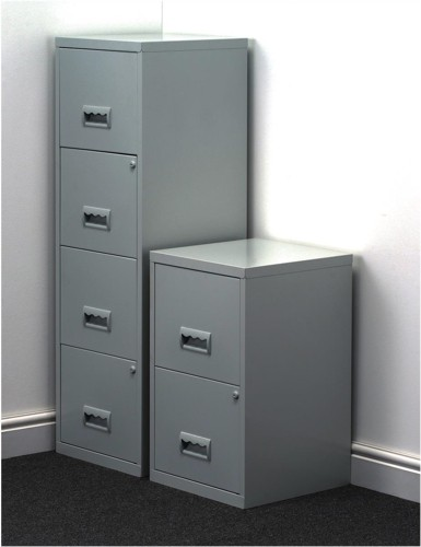 Filing Cabinet Steel 4 Drawers A4 Grey