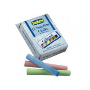 Stephens Superline Chalk Assorted Colours Ref RS543442 [Pack 12]