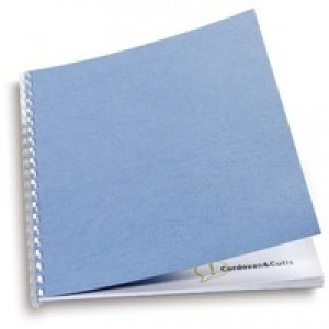 GBC Antelope Binding Covers Leather-look Plain A4 Wedgwood Blue Ref CY040065 [Pack 100]
