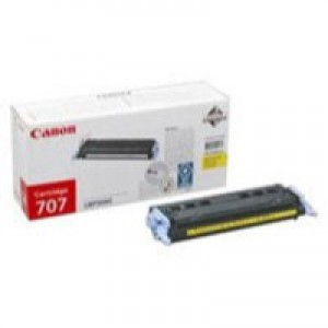 Canon 707 Laser Toner Cartridge Page Life 2000pp Yellow Ref 9421A004