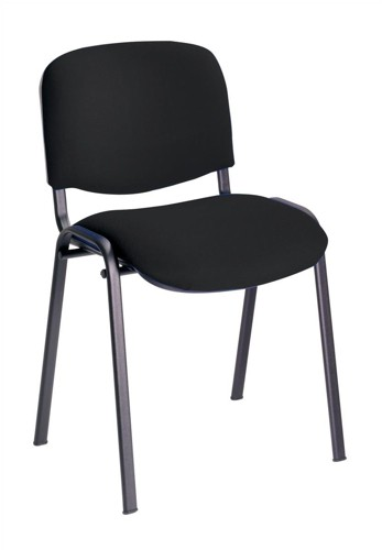 Trexus Stacking Chair Upholstered with Shaped Seat W480xD420xH500mm Black