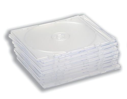 CD Case Slimline Jewel for 1 Disk Clear [Pack 50]