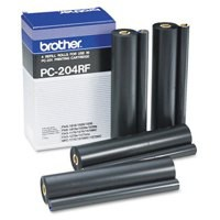 Brother Fax Ribbon Page Life 1680pp Black Ref PC204RF [Pack 4]
