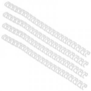 GBC Binding Wire Elements 21 Loop 70 Sheets 8mm White Ref 165184 [Pack 100]