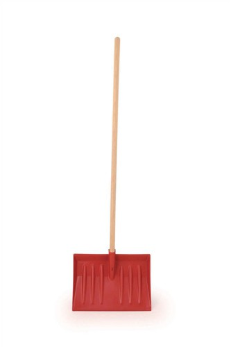 Heavy Duty Shovel with Handle Red