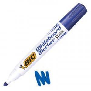 Bic Velleda 1701 Whiteboard Marker Bullet Tip Line Width 1.5mm Blue Ref 1199170106 [Pack 12]