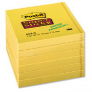 Post-it S/Sticky 76x76mm Yellow Note Pk6