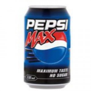 Britvic Pepsi Max Soft Drink 330ml Can x24 Pack
