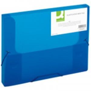 Q-Connect Blue Elasticated Box File
