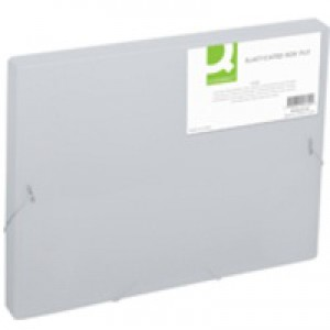 Q-Connect Clear Elasticated Box File