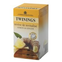 Twinings Infusion Tea Bags Individually-wrapped Lemon and Ginger Ref A01202 [Pack 20]