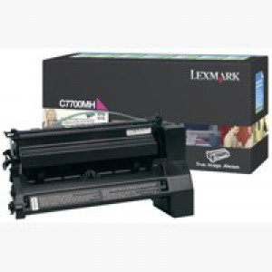 Lexmark C770 Return Programme High Yield Toner Cartridge Magenta C7700MH