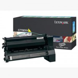 Lexmark C770 Return Programme High Yield Toner Cartridge Yellow C7700YH