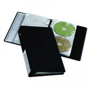 Durable CD and DVD Index 20 Ring Binder with 10 Pockets for 20 Disks Ref 5204/39/58