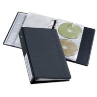 Durable CD and DVD Pocket for Index 20 Ring Binder Capacity 2 Disks Clear Ref 5203/19 [Pack 5]